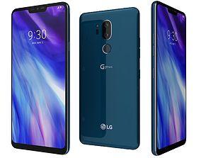 LG G7 ThinQ Moroccan Blue 3D