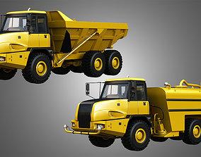 3D JD - 300D II Articulated Dump - Water Tanker Trucks 2 1