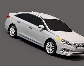 Hyundai Sonata 2015 3D asset