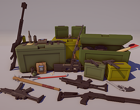 3D model Low Poly FPS Weapons Pack