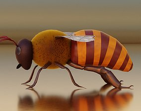 Honey Bee Rigged and Animated For Easy Non 3D model 1