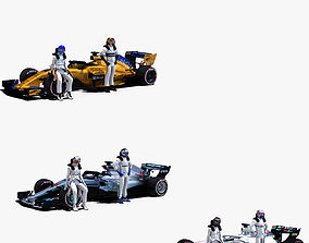 Formula 1 2018 Pack 4 3D asset