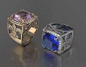 3D print model Ring Fleur de Lis
