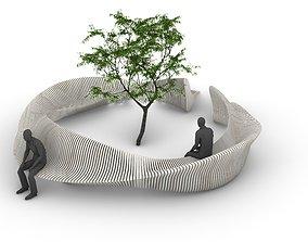 3D Parametric Tree Bench Seat