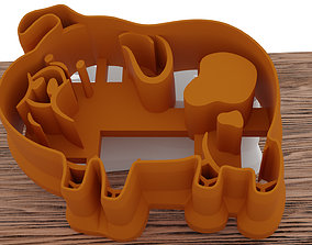 love A pig as a mold for a 3D printer