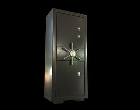 3D model low-poly bank safe