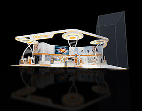 3D model Exhibition stand 18x20mtr 3sides open