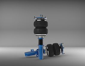 Air Suspension Bag Coilover 3D asset