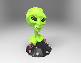 3D model extraterrestre fumando