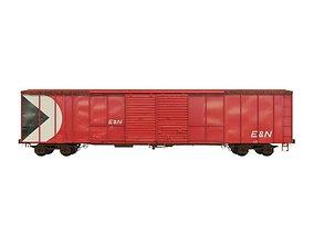3D model Train Cars