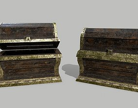 3D model game-ready Chest forest