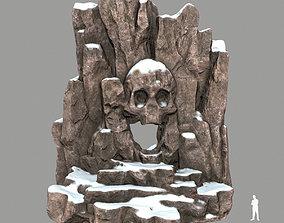 3D model VR / AR ready skull cave rocks
