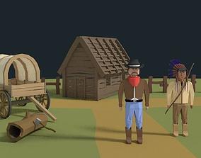 Western Scene Assets 3D model