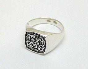 men ring jewelry 3D printable model