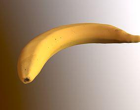 3D model banana 3 LODs