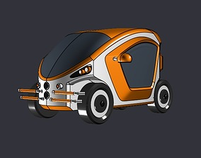 3D printable model Electric toycar concept