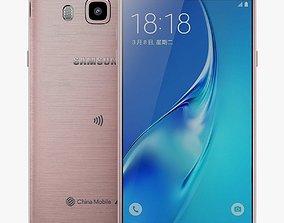 3D model telephone Samsung Galaxy J5 2016 Rose Gold