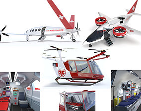 Collection Medical Aircraft with Interiors 3D model