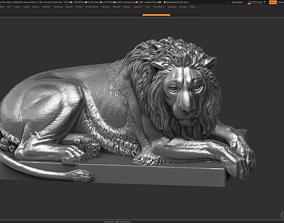 statue 3D print model Lion Sculpture