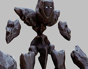 Stone Golem Stonekonstrukt 3D asset