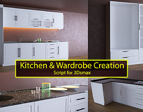 Kitchen and Wardrobe Creation 3D model
