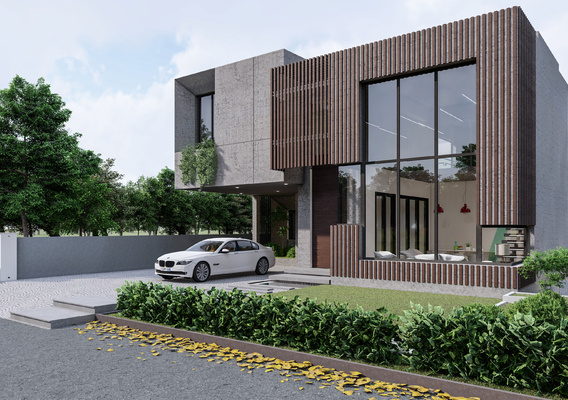 MODERN HOUSE DESIGN AND RENDERING IN LUMION 8.5 PRO