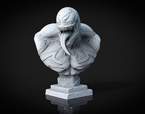marvel 3D printable model Venom Bust
