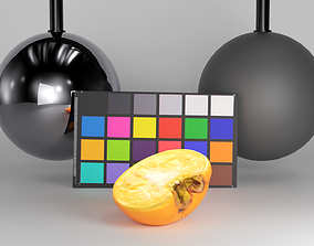 3D model Half persimmon 35