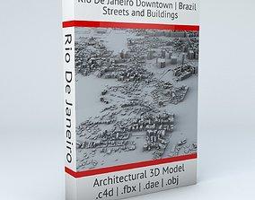 Rio De Janeiro Downtown Streets and Buildings 3D model