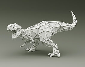 3D PRINTED MODEL T-REX-ABSTRACT-DESIGN-POSE