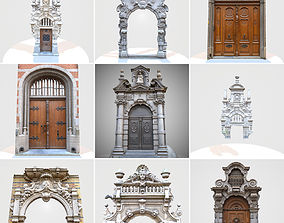 9 Luxury Architecture Entrance Door Collection 3D asset