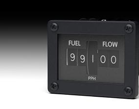 F16 Fuel Flow Indicator 3D model rigged