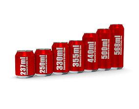 3D model Drinks Cans - Standard Set