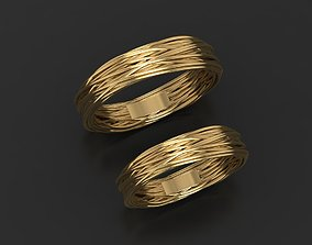 Wedding rings rope 3D print model