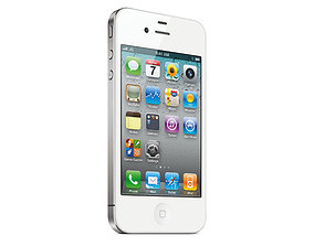 Realistic iphone 4s SILVER mold production 3D Model