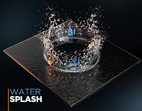 3D model architectural Water Splash