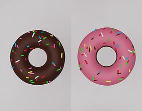 Cartoon donut 3D model