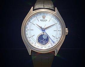 3D asset Rolex Cellini Moonphase wrist watch