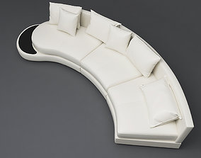 3D Leather Rounded Sofa