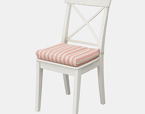 3D Ikea Ingolf chair with a pillow ULLA MAY
