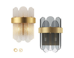 Blount Raised and Smokey Wall Lamp by 3D