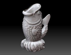 Fish Incense Statue 3D print model