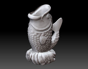 Fish Incense Statue 3D print model