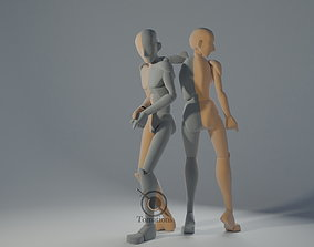 Blender IK Rigged Dolls 3D model