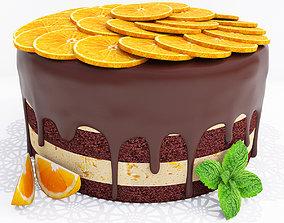 3D Orange cake