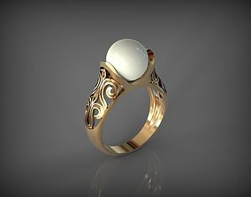 Ring with Pearl 3D printable model