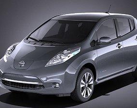 3D model Nissan Leaf 2016 VRAY