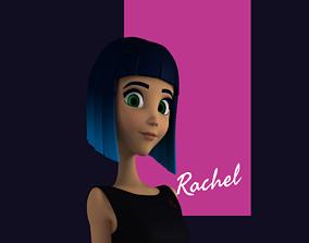 Rachel Stylized Teen Female Character 3D model teenage
