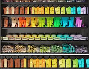 Color cosmetic set for a beauty salon 3D
