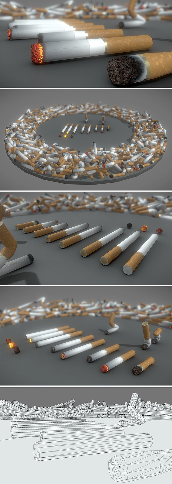 Low-Poly Cigarette Package